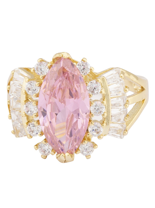Baby Pink Stone Gold Statement Ring-1