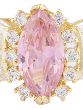 Load image into Gallery viewer, Baby Pink Stone Gold Statement Ring-4