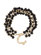 Load image into Gallery viewer, Black Gold Bead Cluster Bracelet-3
