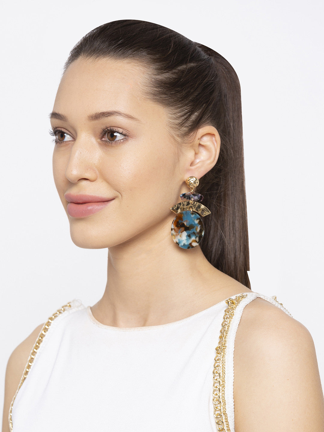 Gold Drop Earrings-3
