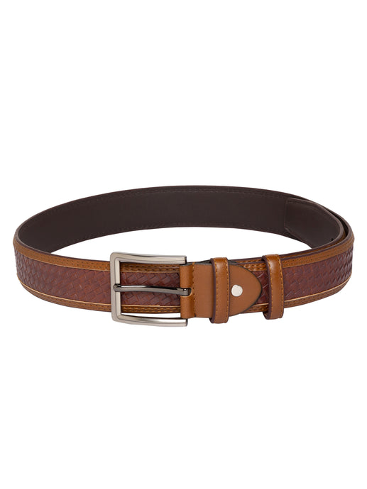 Braided Tang Closure Tan Belt-1