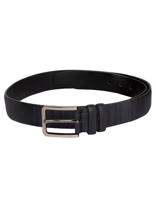 Textured Navy Blue Wide Belt-1