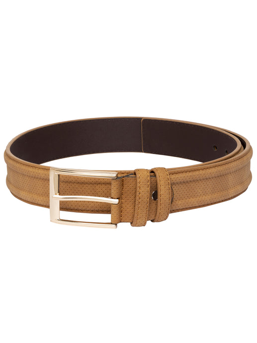 Textured Beige Wide Belt-1