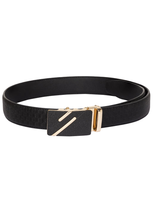 Black Textured Casual Belt-1
