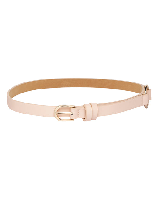 Side Detailing Slim Nude Belt-1