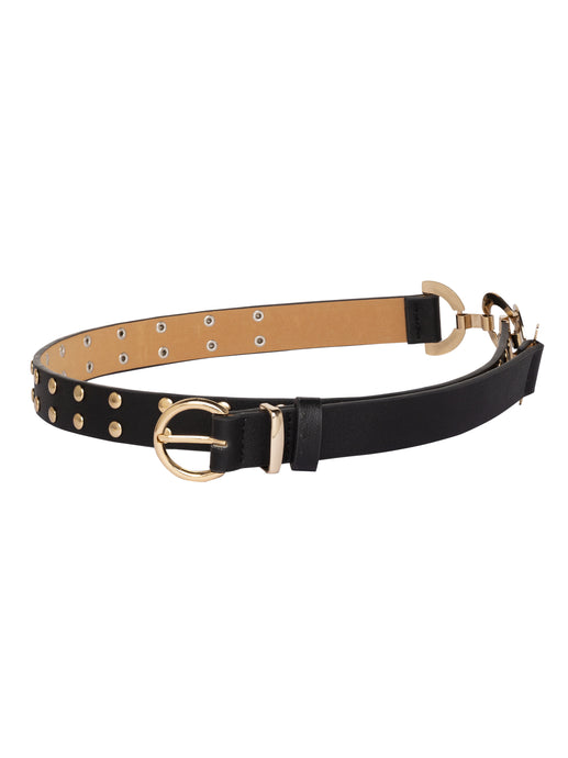 Rivet Side Buckle Black Belt-1