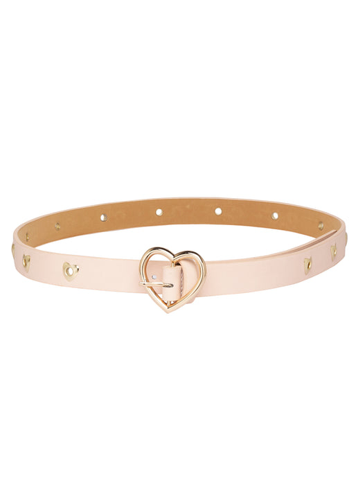 Heart Motif Nude Belt-1