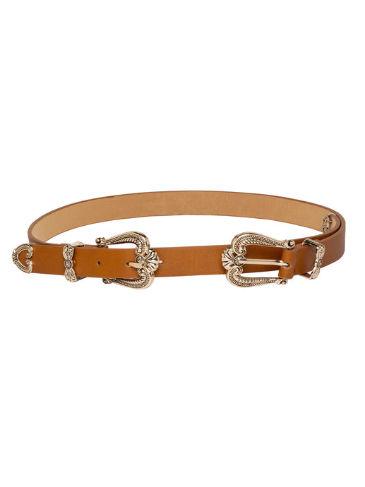 Ornate Buckle Tan Belt-1