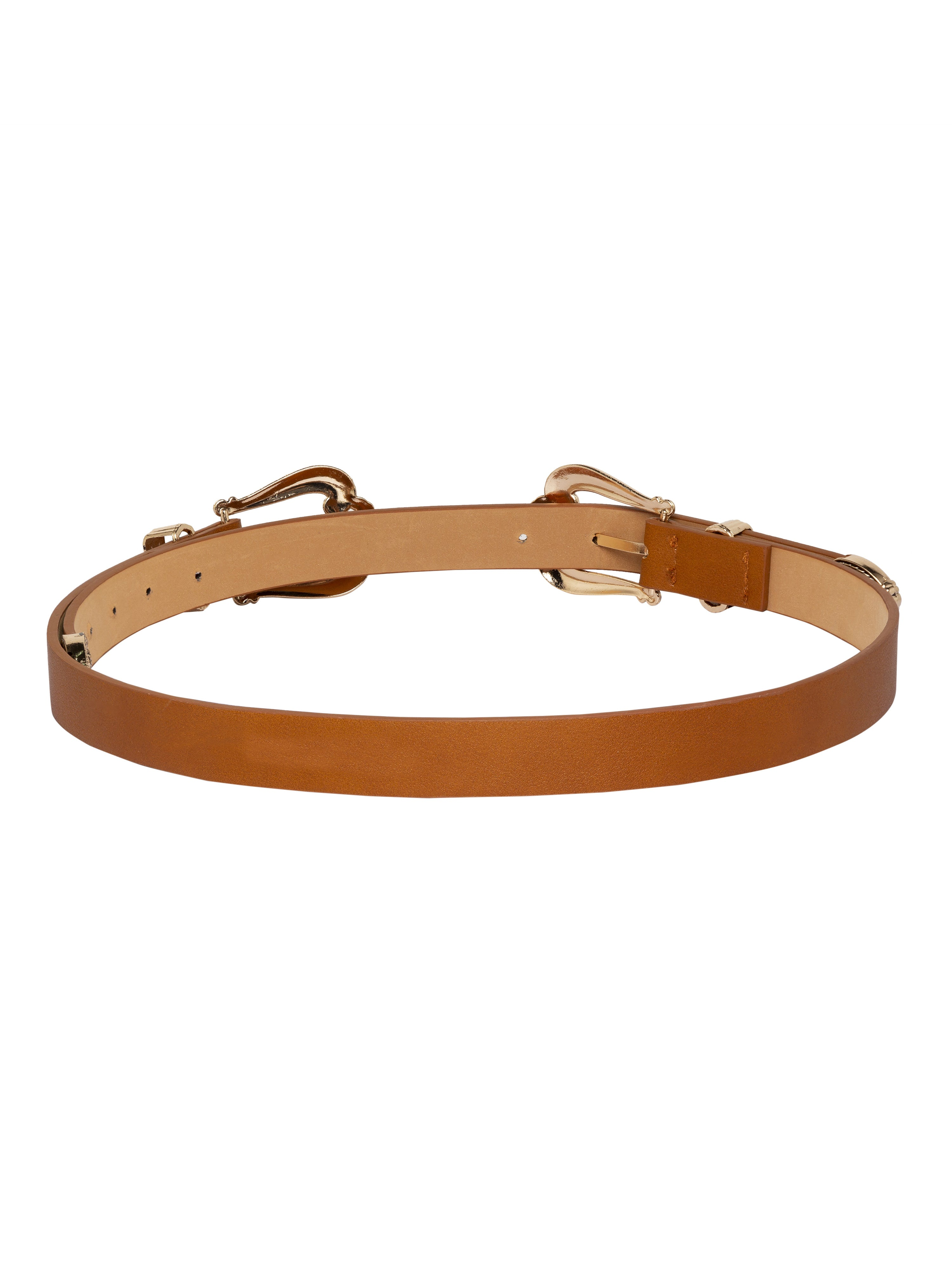 Ornate Buckle Tan Belt-2