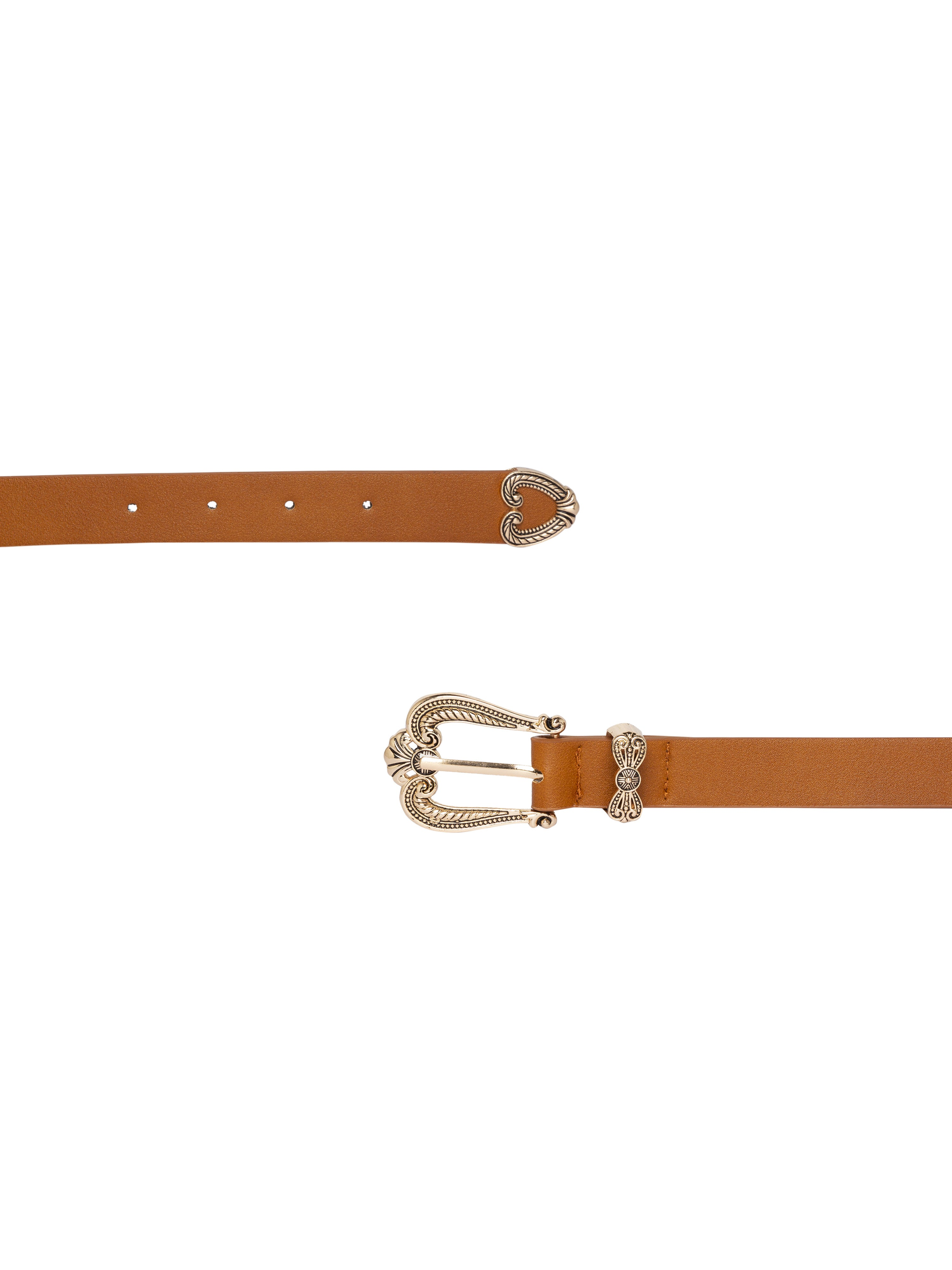 Ornate Buckle Tan Belt-3