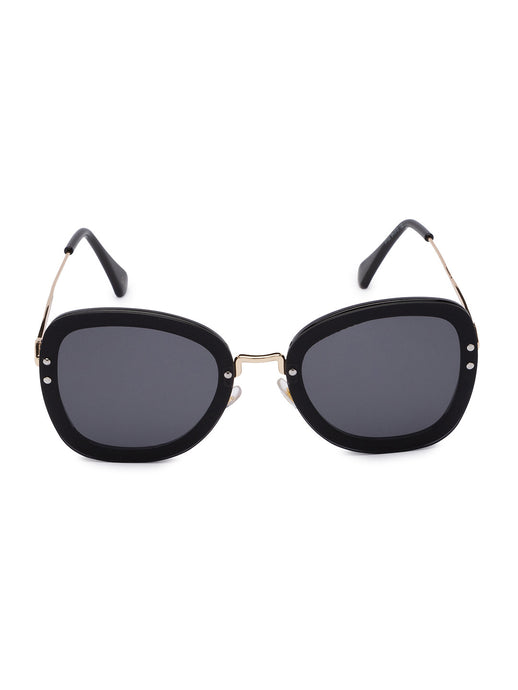 Black Full Rim Aviator Sunglasses-1