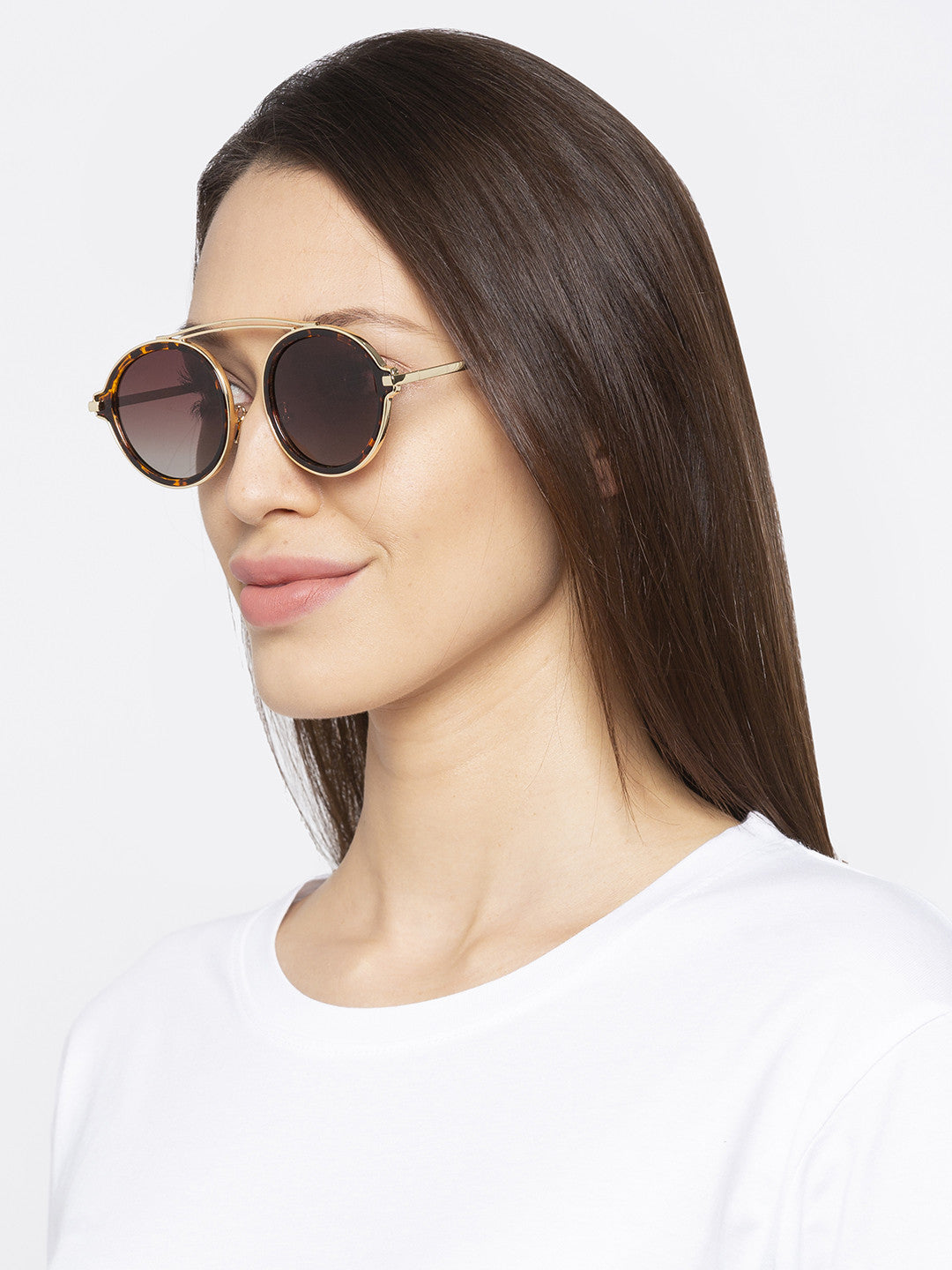Brown Full Rim Aviator Sunglasses-5