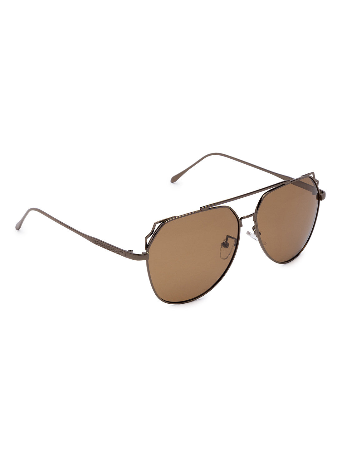 Brown Full Rim Aviator Sunglasses-2