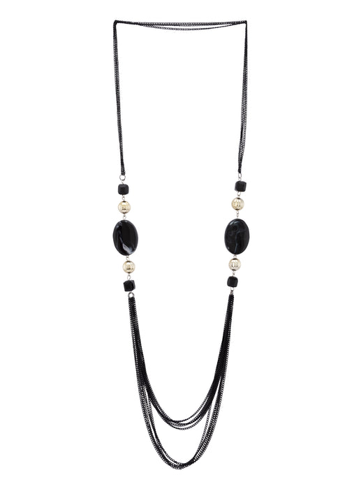 Black Gold Multi-strand Necklace-1