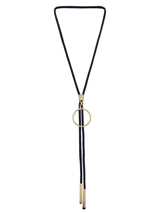 Navy Blue Gold Slider Necklace-1