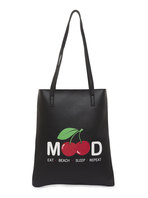 Printed Black Handheld Bag-1