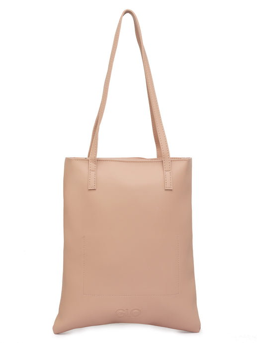 Solid Nude Handheld Bag-1