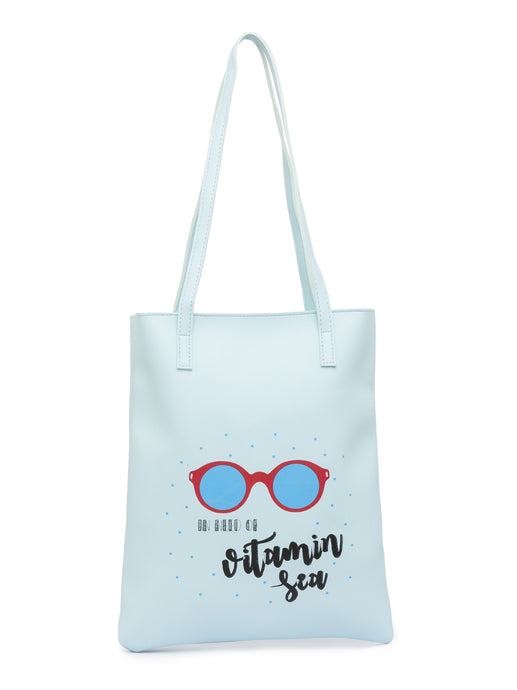Vitamin Sea Print Ice Blue Handheld Bag-1