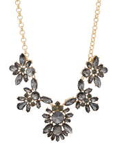 Load image into Gallery viewer, Grey Stone Gold Statement Necklace-2