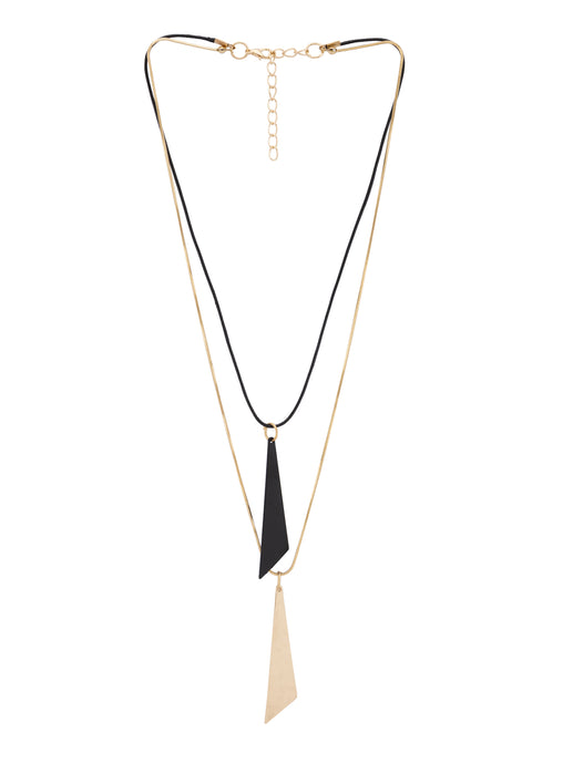 Double Strand Black Gold Necklace-1