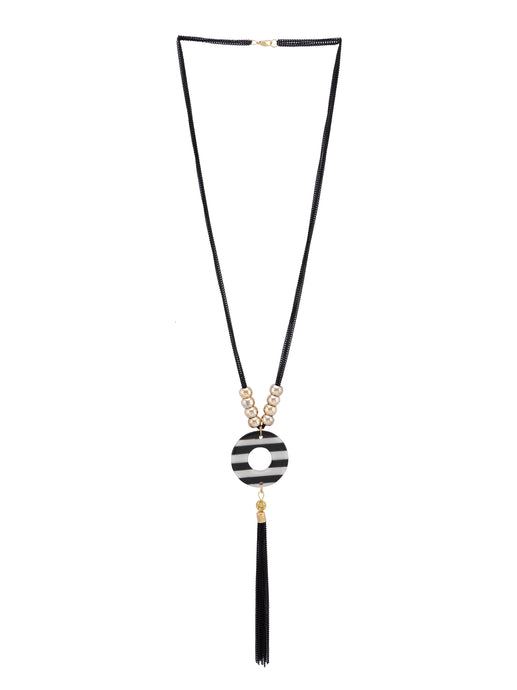 Multi-strand Black Gold Necklace-1