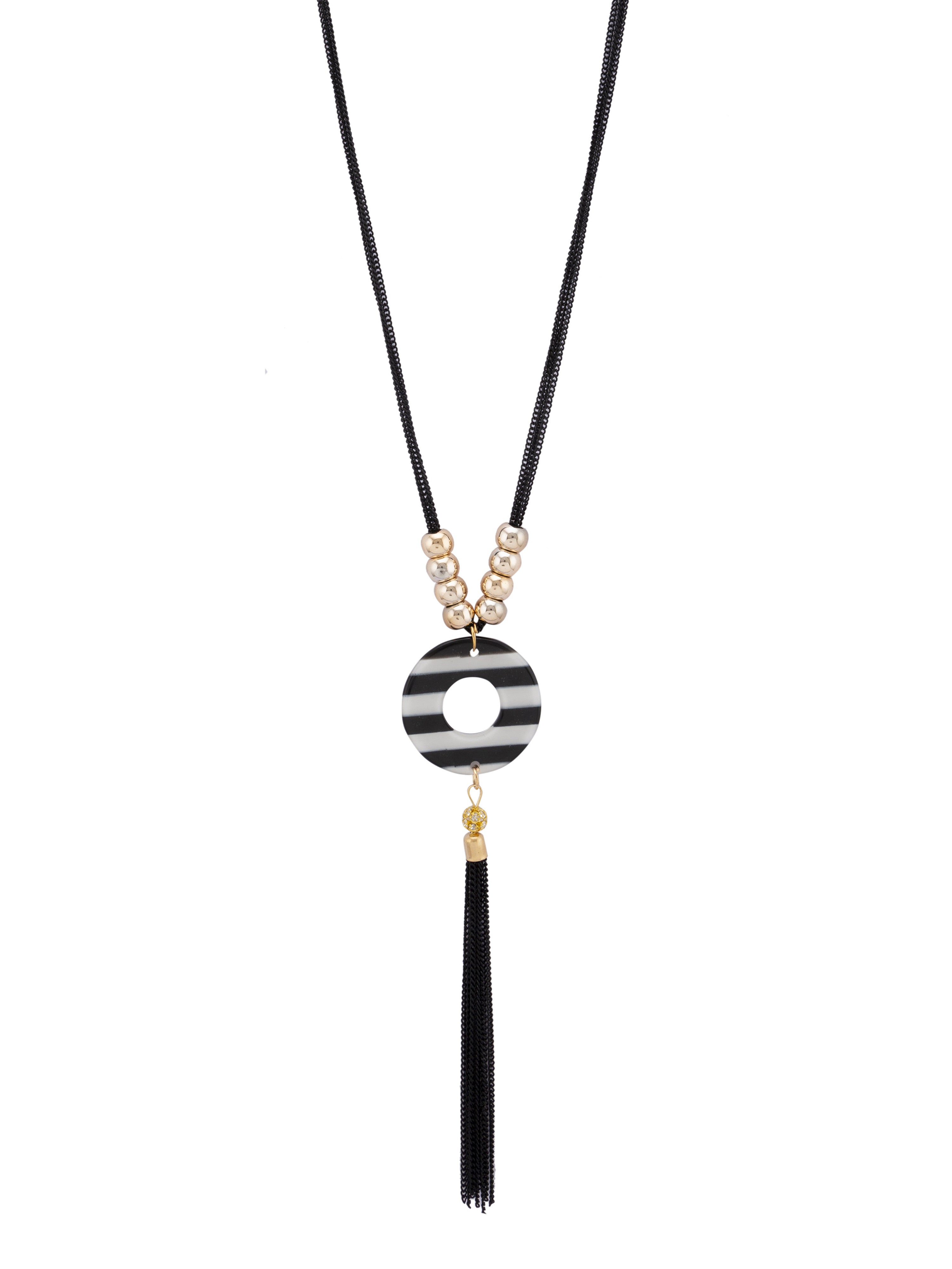 Multi-strand Black Gold Necklace-2