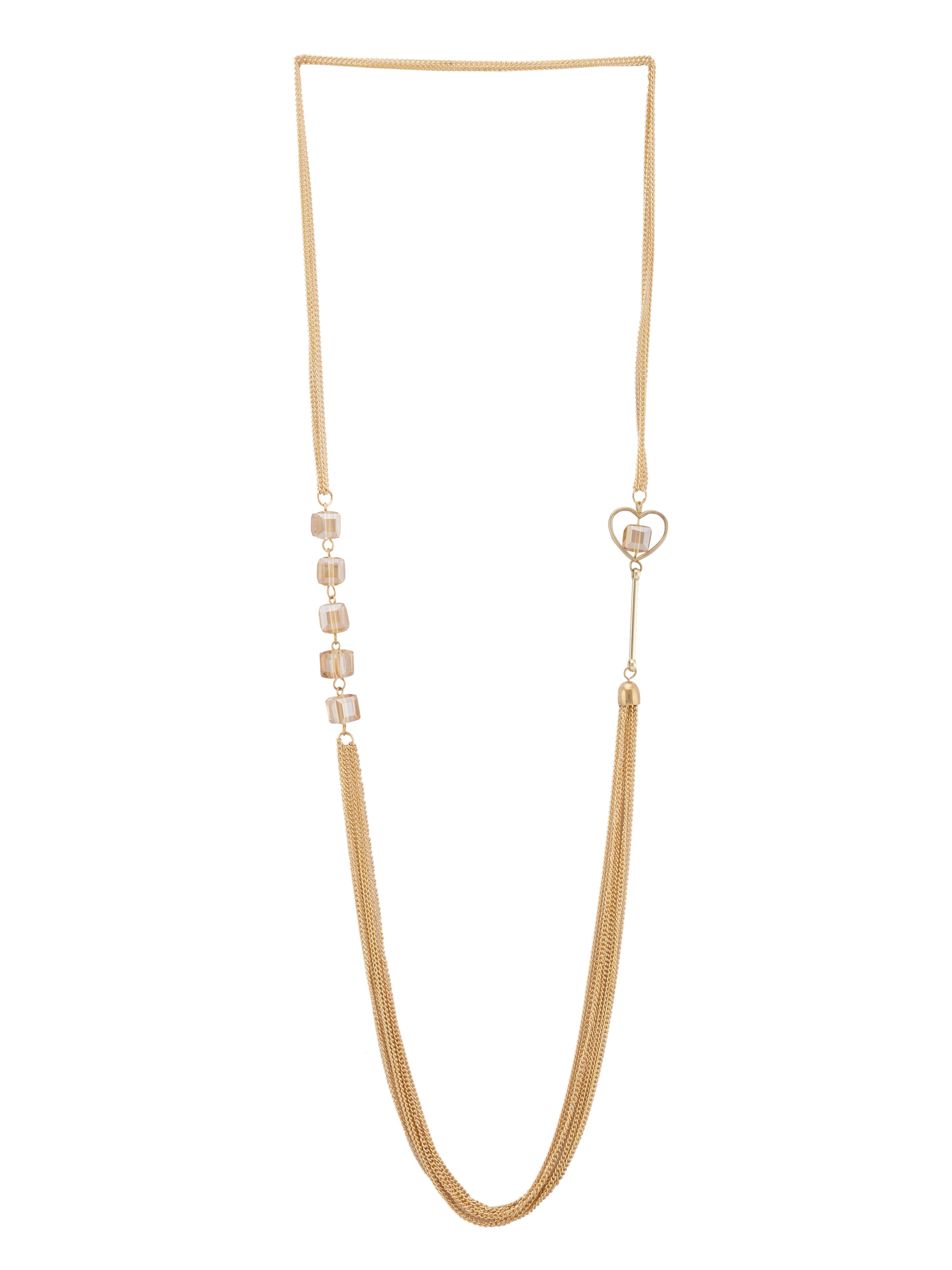 Gold Crystal Multi-strand Necklace-1