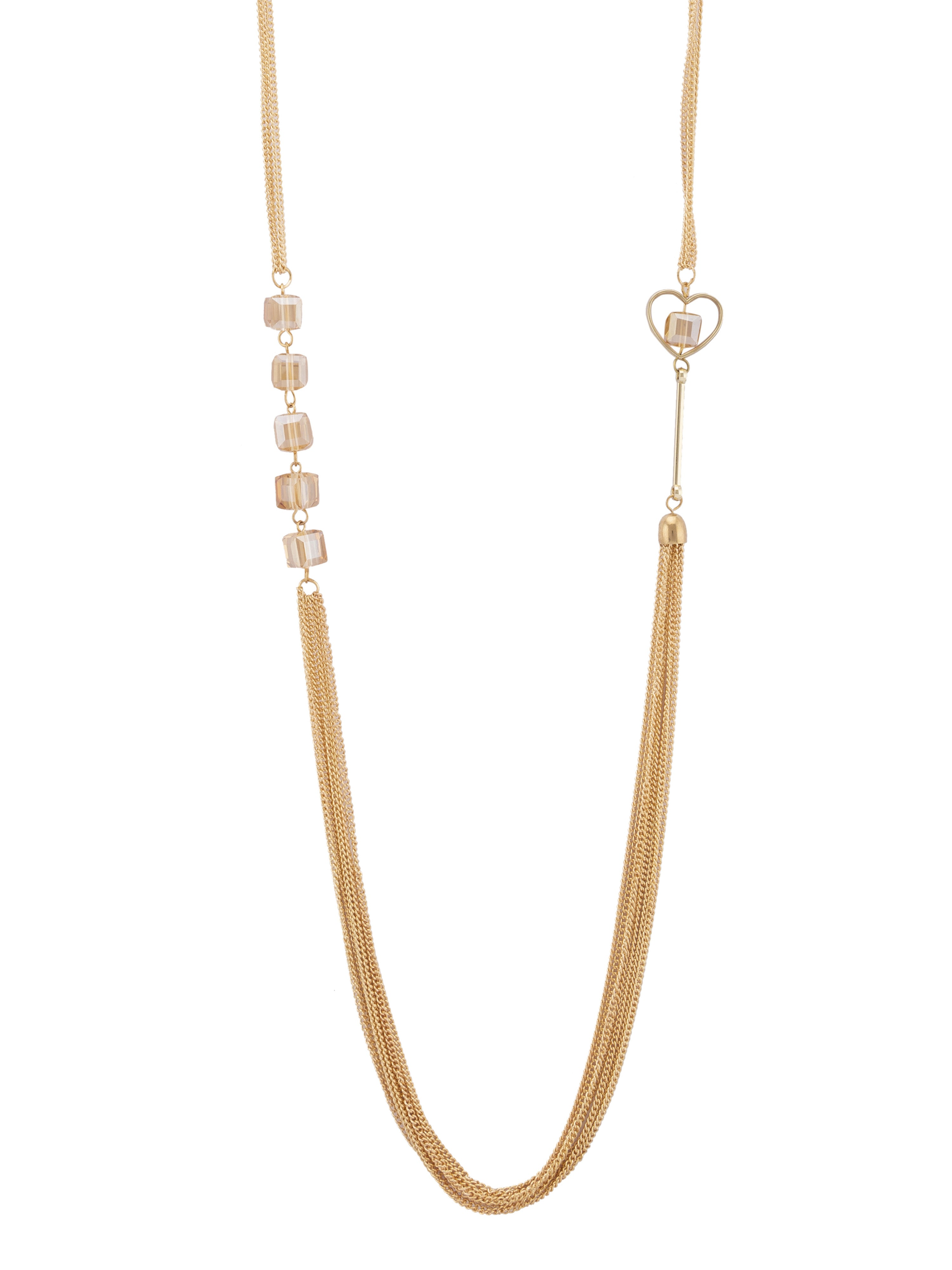 Gold Crystal Multi-strand Necklace-2