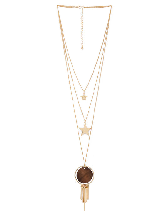 Gold & Brown Necklace-1