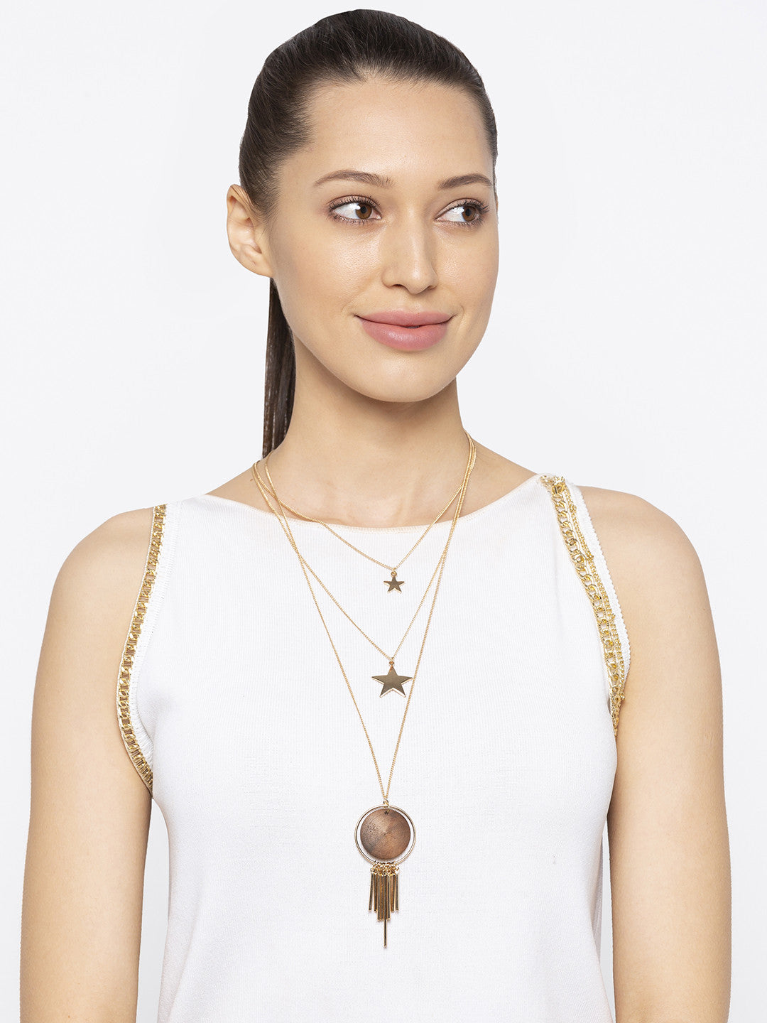 Gold & Brown Necklace-3