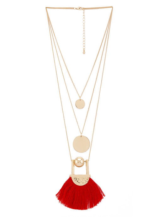 Gold & Red Necklace-1