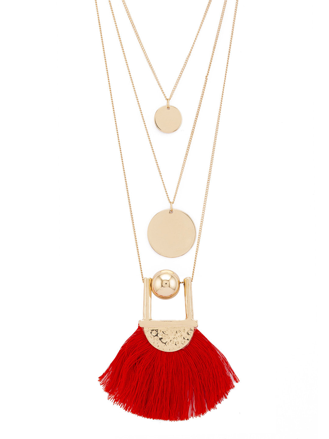 Gold & Red Necklace-2