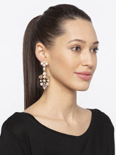 Load image into Gallery viewer, Grey Stones and Beads Drop Earrings-3