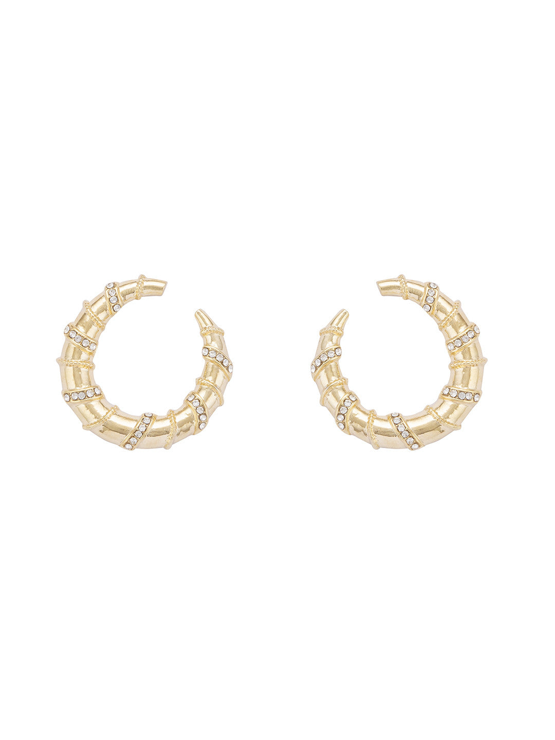 Gold Hoop Earrings-1
