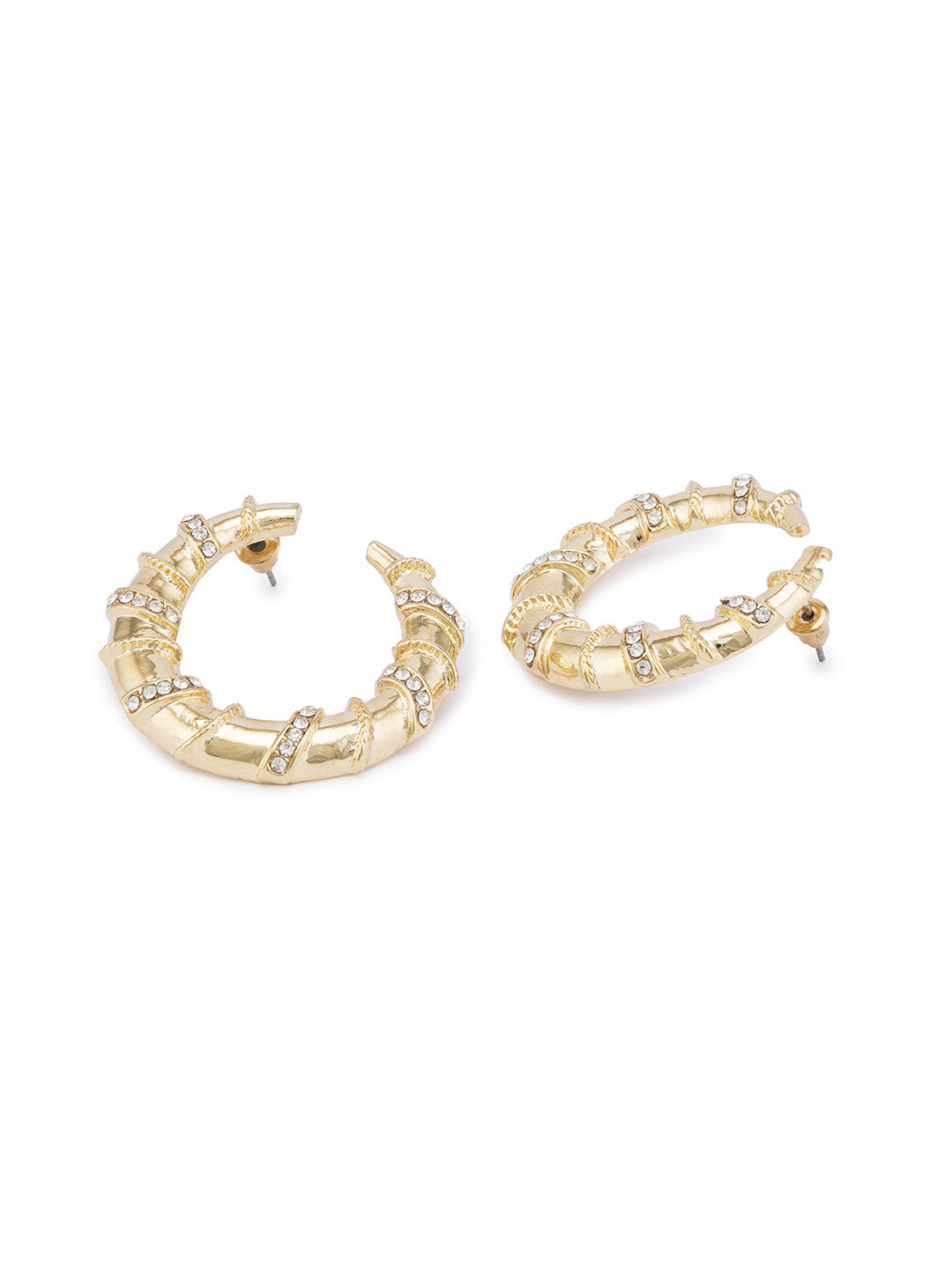 Gold Hoop Earrings-2