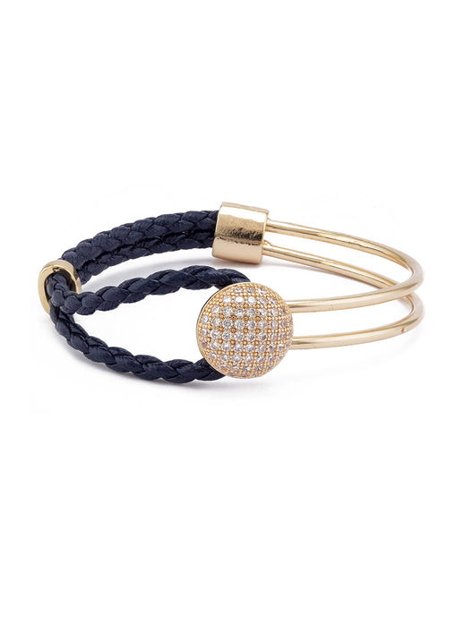 Gold Purple Minimalist Bracelet-1