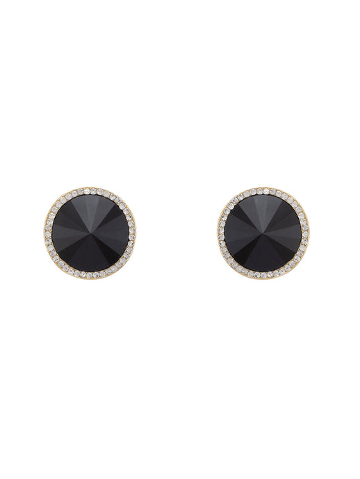 Black Stones and Beads Studs-1