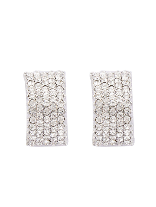 Silver Stones and Beads Studs-1