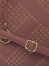Load image into Gallery viewer, Rivet Stud Dirty Pink Structured Bag-7