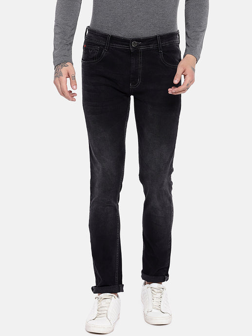 Black Regular Fit Mid-Rise Clean Look Jeans-1