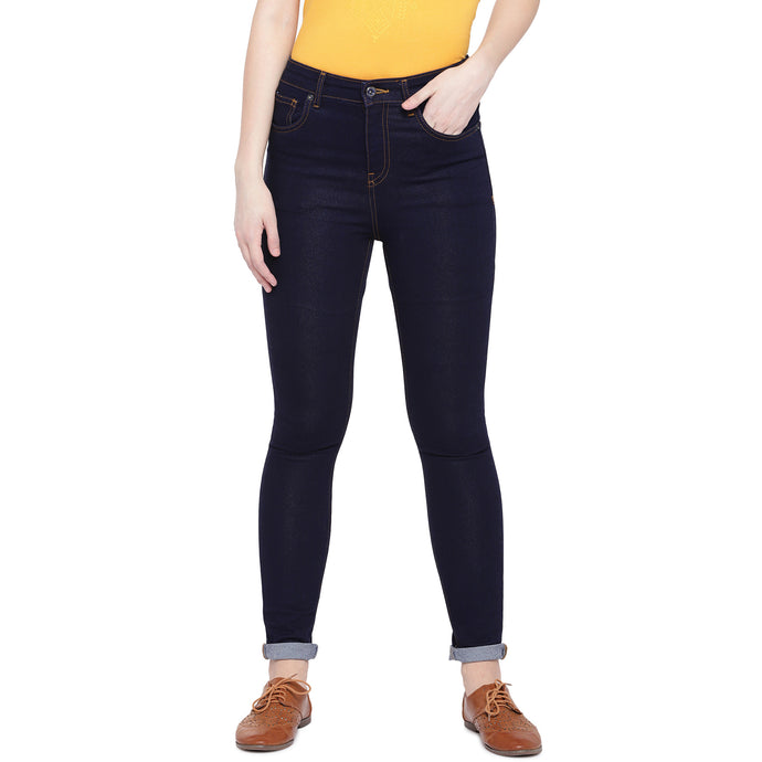 Navy Blue Skinny Fit High-Rise Clean Look Jeans-1