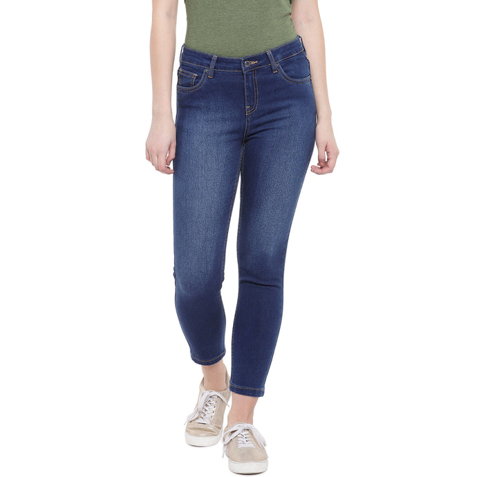 Blue Skinny Fit Mid-Rise Clean Look Jeans-1