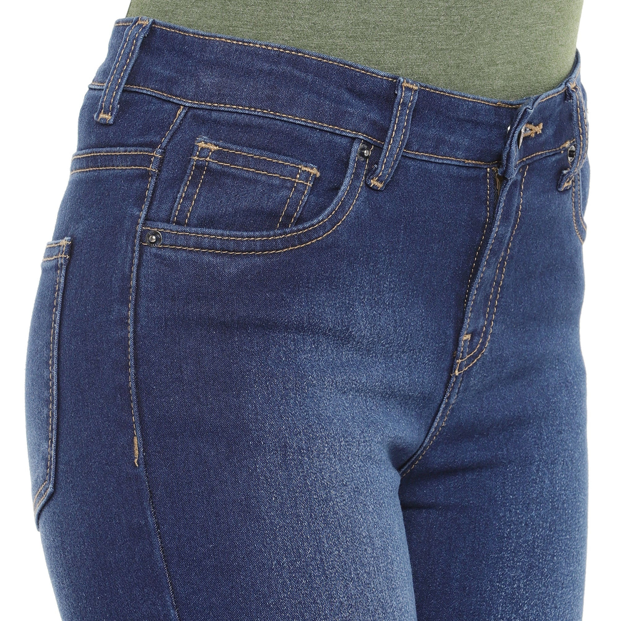 Blue Skinny Fit Mid-Rise Clean Look Jeans-5