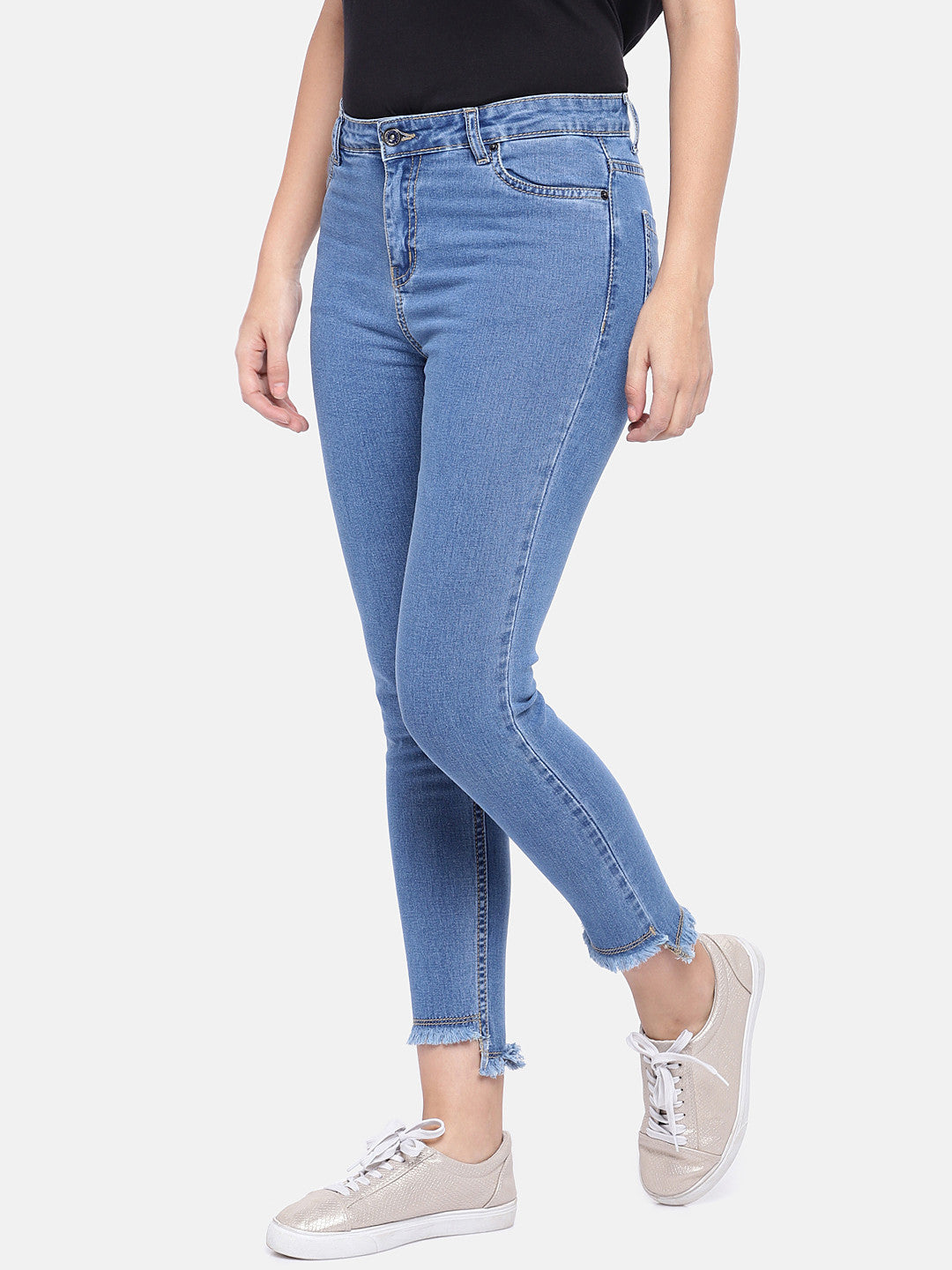 Blue Regular Fit Mid-Rise Clean Look Jeans-2