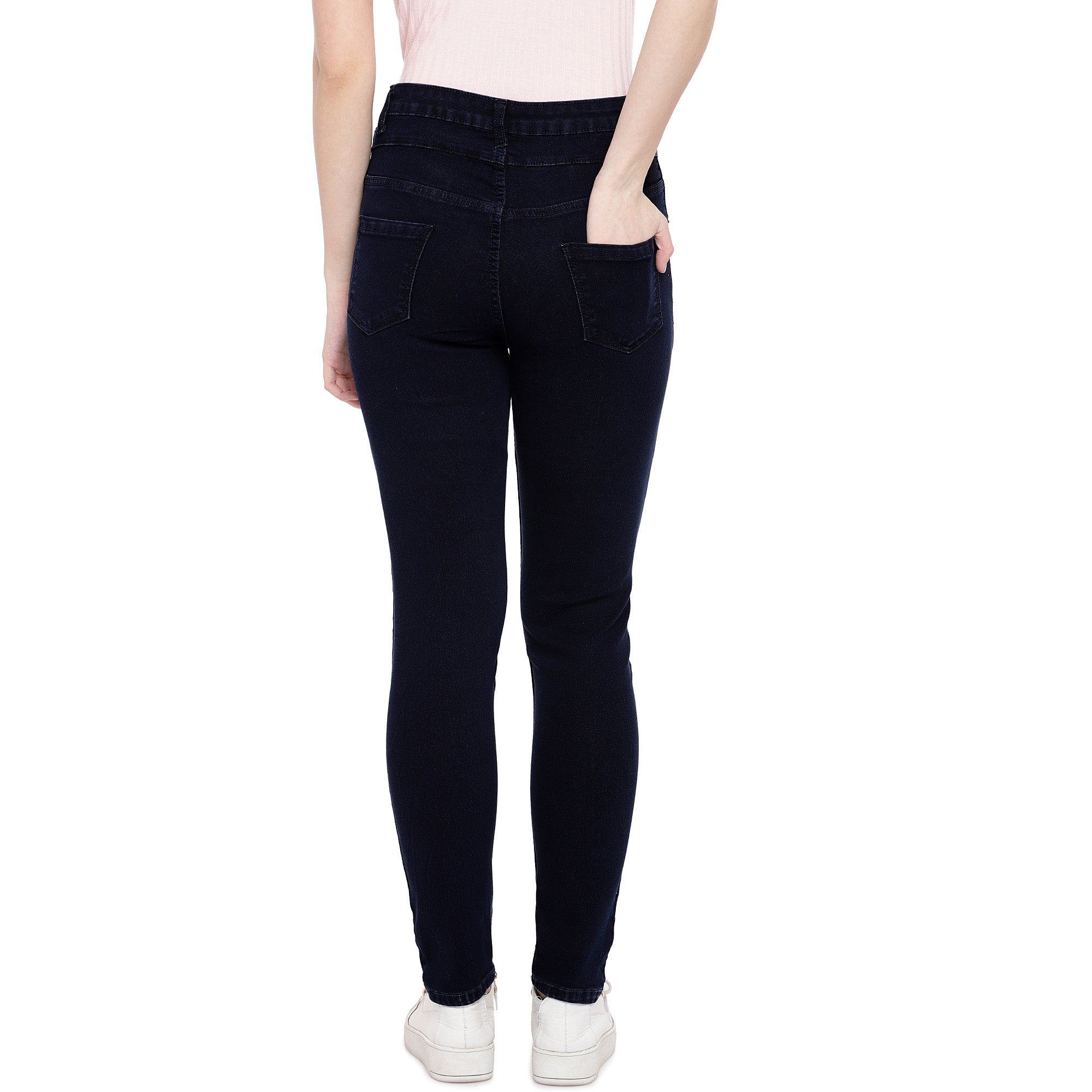 Blue Skinny Fit High-Rise Clean Look Stretchable Jeans-3