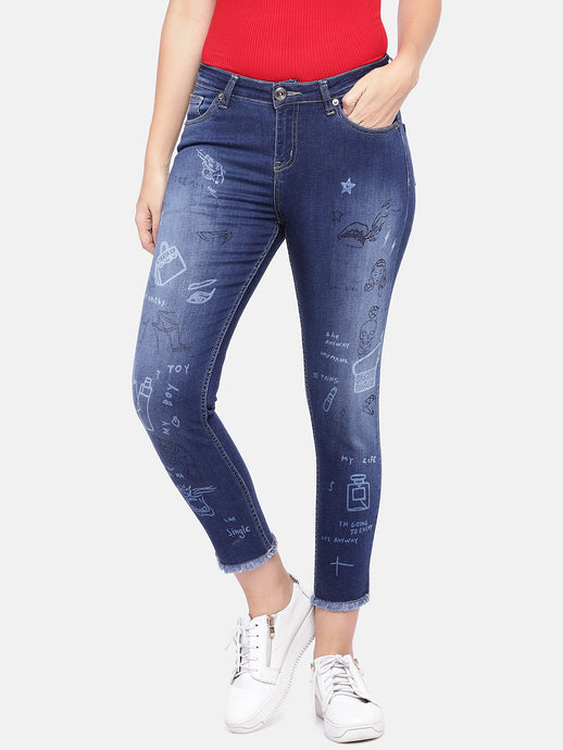Blue Regular Fit Mid-Rise Clean Look Jeans-1