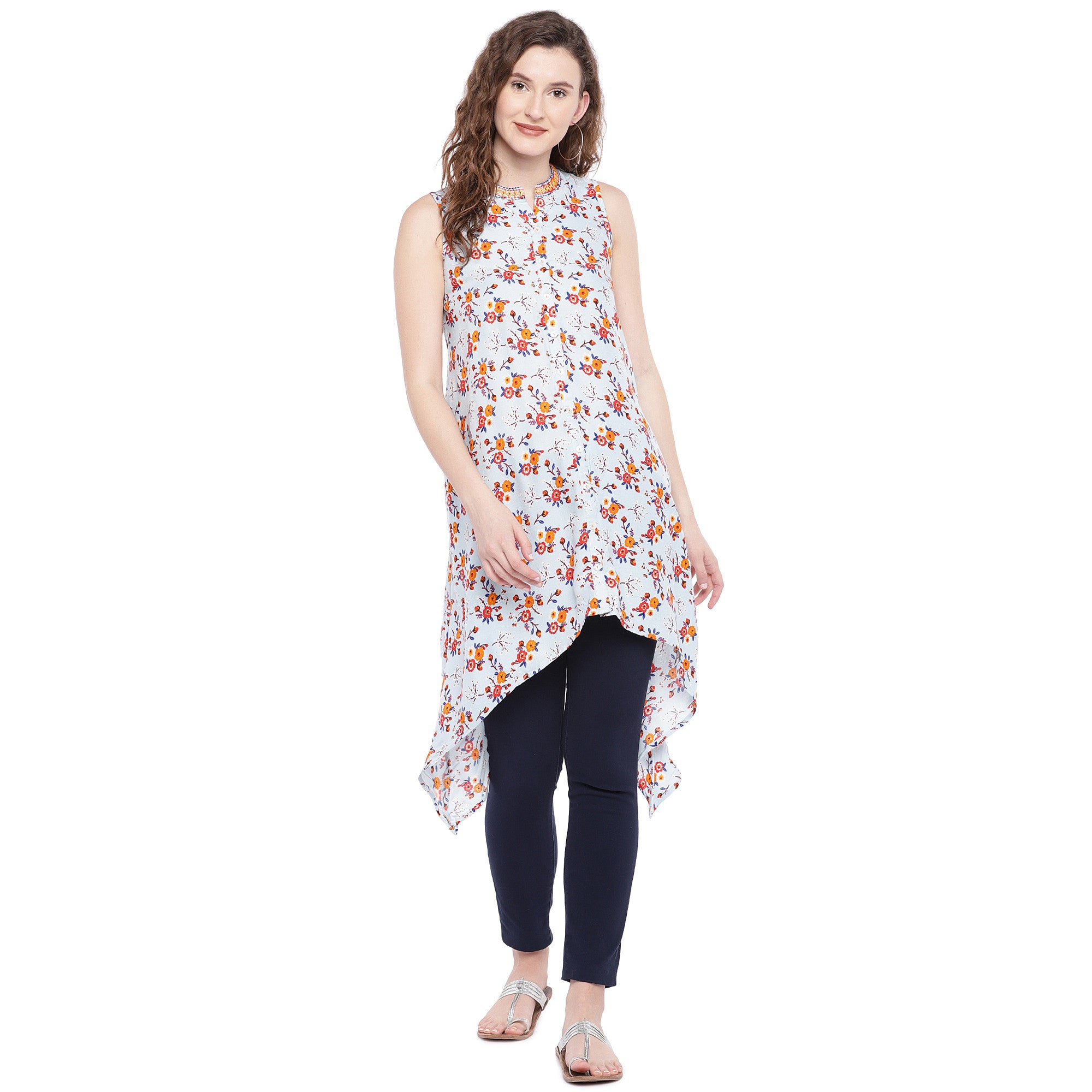 Blue Printed Tunic-4