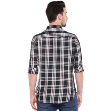 Load image into Gallery viewer, Black Slim Fit Checked Casual Shirt-3