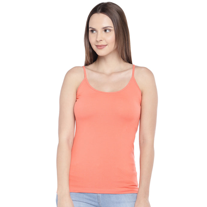 Coral Orange Solid Camisole-1