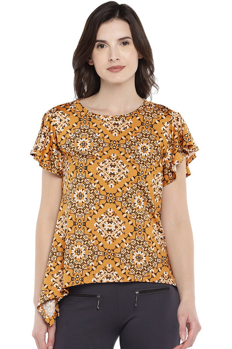 Yellow Printed Top-1